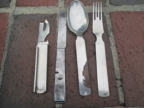 Four piece utensils mess set