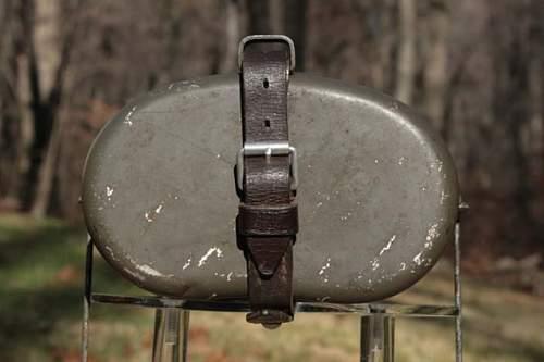 German mess kit leather strap!!