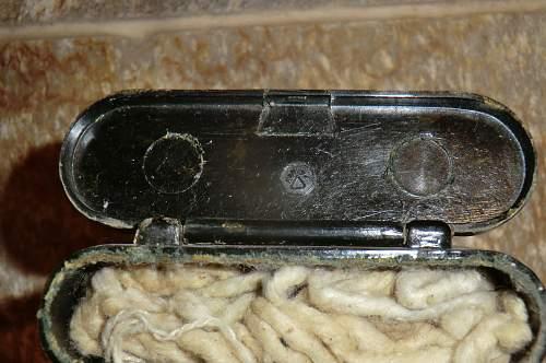 K.98 cleaning kit case in bakelite.