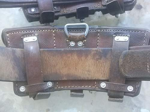 Ammo pouches, belt and buckle combo