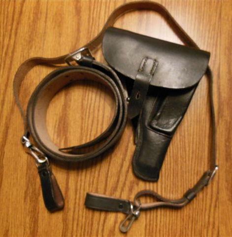 holster & Luftschutz belt w/ cross-strap