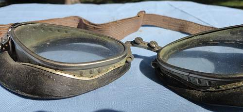German Avaition Style Goggles DRGM Marked