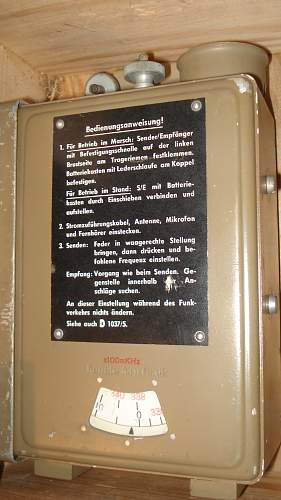 "Mint Unissued German Military Radio ""Dorette"" in Box!!!"