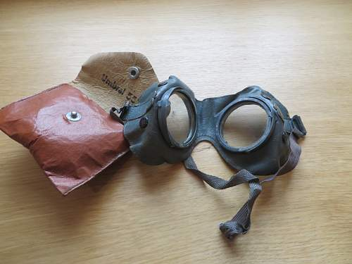 Umbral goggles in leatherette pouch