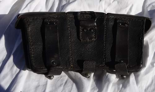 KM marked K98 ammo pouch