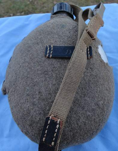 German Canteen with Tropical Web Strap