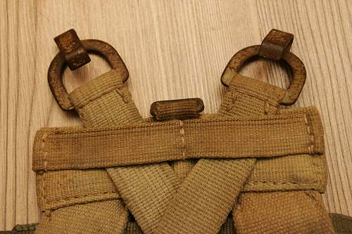A frame assault pack and bag