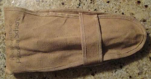 Kleiderschere Pinzette Schere canvas pouch
