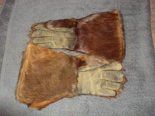 German winter gloves bear fur ???