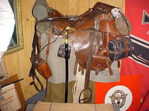 German WW2 horses Saddle Fea market find