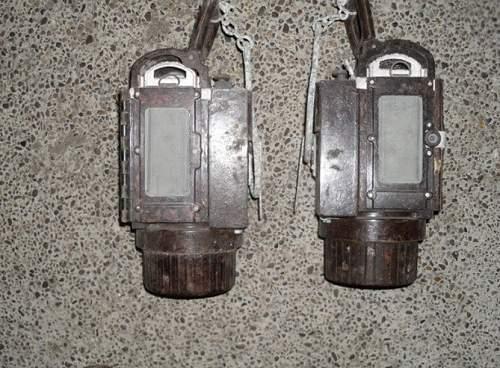 Wehrmacht Bakelite lanterns.