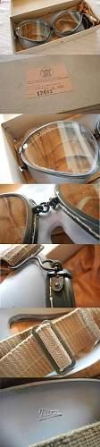 Luftwaffe Aviator wind glasses.