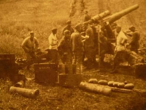 Another piece of German artillery wickerwork......