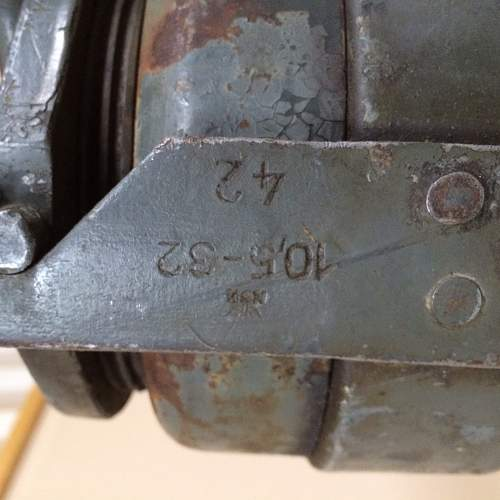 Is this a 10,5 cm round carrier for a U-boat?