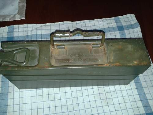 WWII ammo box door