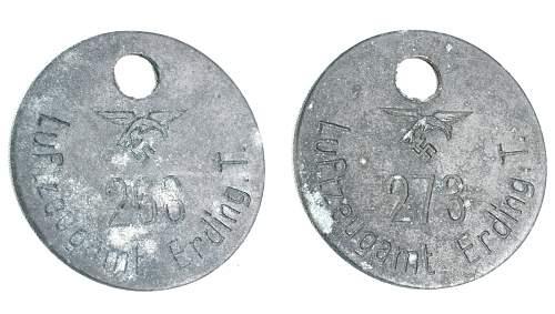 Unidentified WW2 German metal Discs?