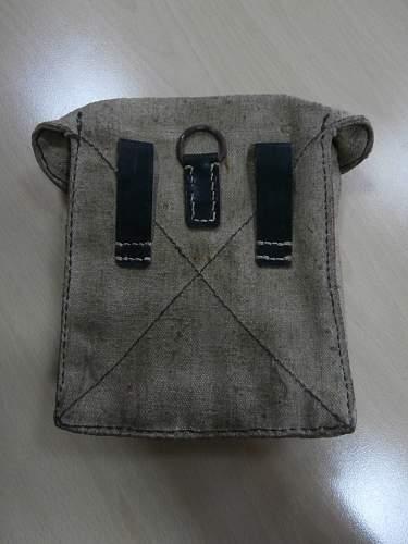 Latewar canvas MG42 tool pouch.