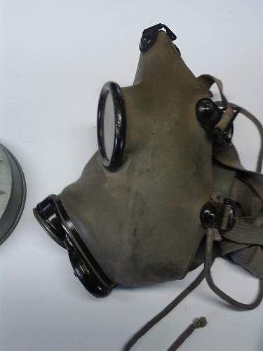 Identify production code on german/chech gas mask.