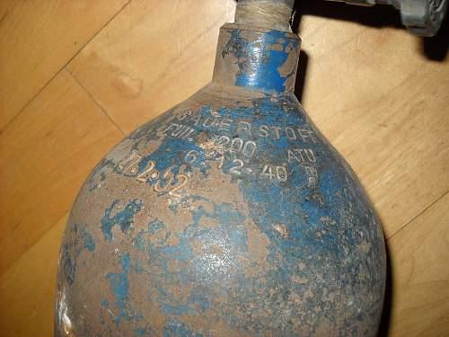 German Luftwaffe Oxygen Bottle