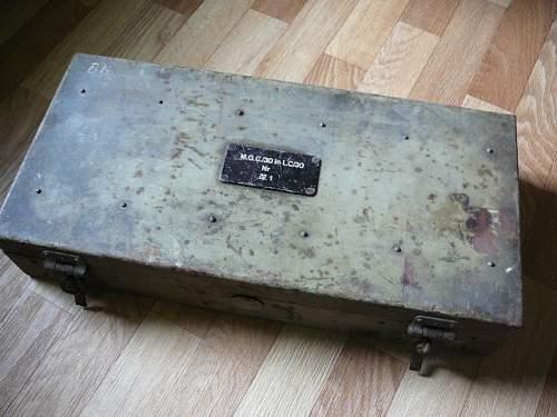 Boxes of ammunition