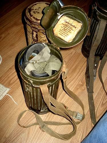 New gasmask set pick-up...