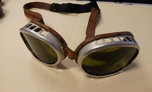 Gebirgsjager anti-glare 'snow' goggles