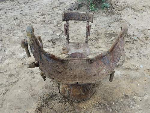 MG.34 twin stand found in a bunker this week