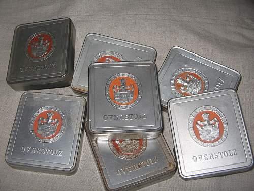 Third Reich (?) cigarette tins - Overstolz