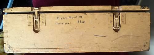 Luftwaffen Munitionskiste - original paint?