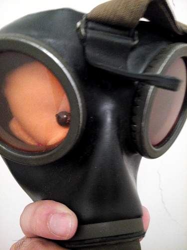 My new backpack and gasmask