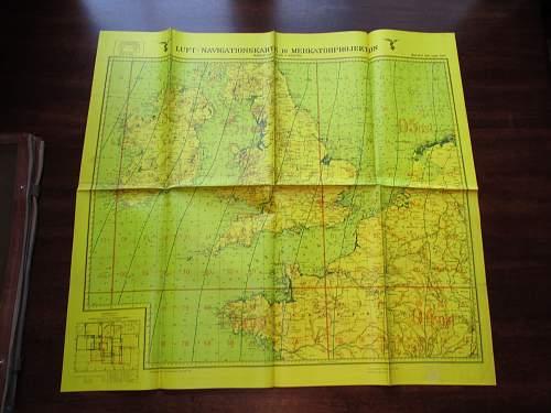 Luft-Navigationskarte in Mercator Projektion, Great Subject Matter 1940/41