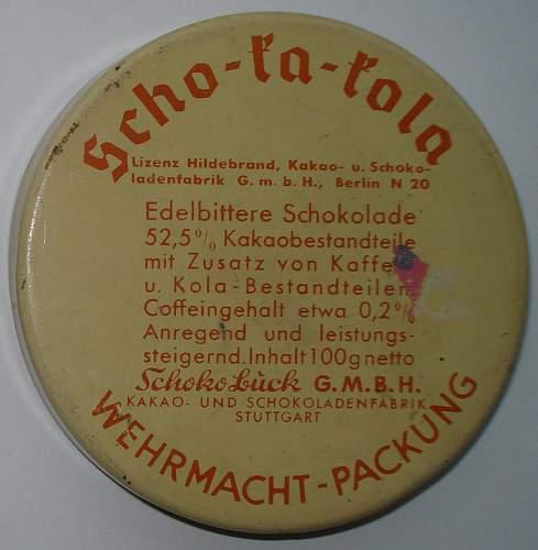 Scho Ka Kola tin