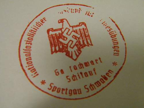 Sports rubber stamp trying to translate