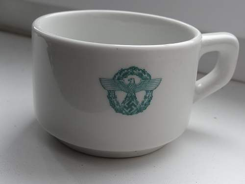 Help me. Polizei Coffee Cup