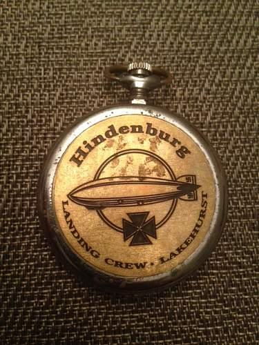 Hindenburg Landing Crew Lakehurst, German Pocket Watch
