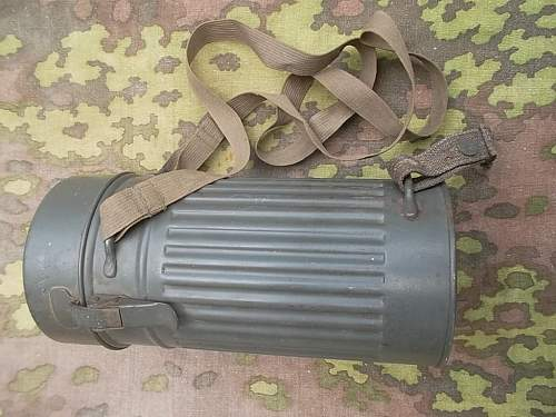German gas mask cannister