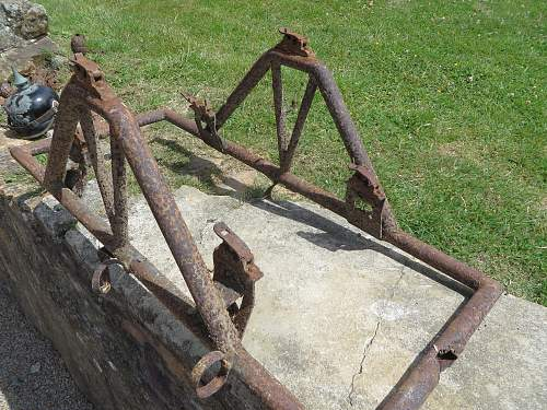 Cable drum carrier.