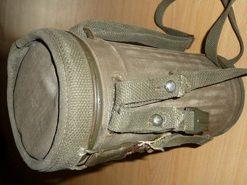 Rare WWII German Type Gas Mask Set