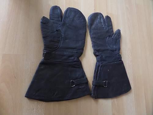 German Luftwaffe Motorbike gloves