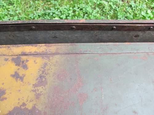 Need Help , metal box, camo painted