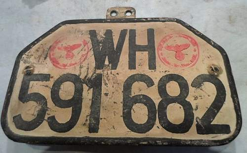 WH Licence plates.