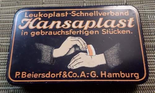 Hansaplast Band-Aid Bandage tin