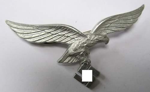 (Luftwaffe) aluminium-based breast-eagle