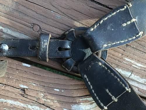 WW2 German Y-Straps Unmarked/Original?