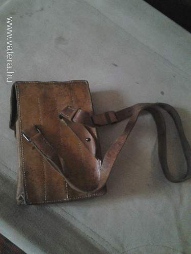 Leather MP-40 mag pouch  post war or war time