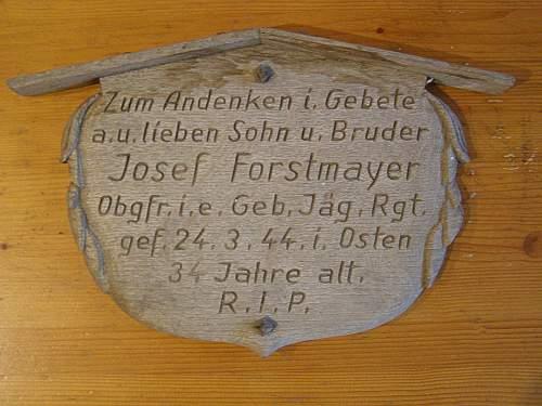 Grave marker, or memorial plaque
