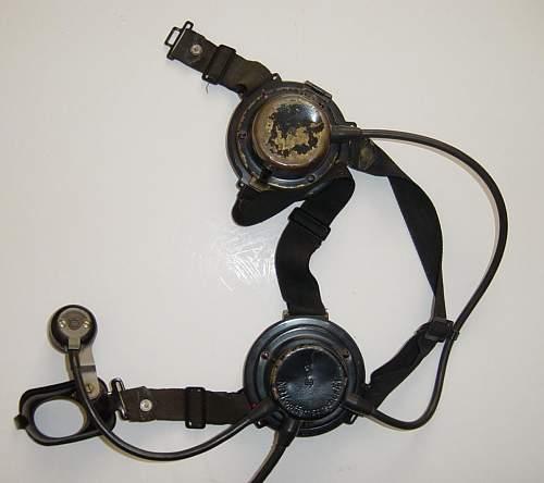 Kriegsmarine Intercom headset Kopffernsprecher 41