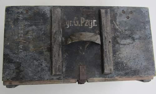 Wehrmacht ' Granaten ' wooden storage box