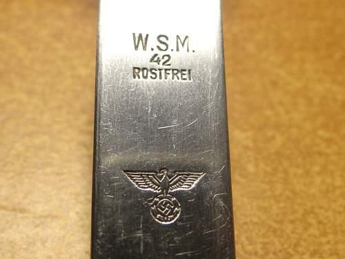 Werhmact Marked Fork W.S.M.42 ROSTFREI