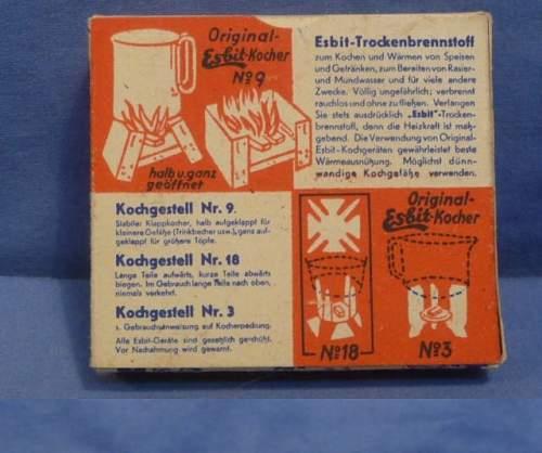 Esbit No9 Kocher with Fuel tablets